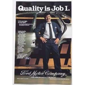 1991 Peter Almanza Ford Motor Company Print Ad (3641