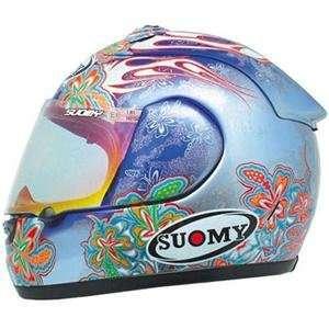 Suomy Excel Flower Helmet   Large/Indigo Automotive