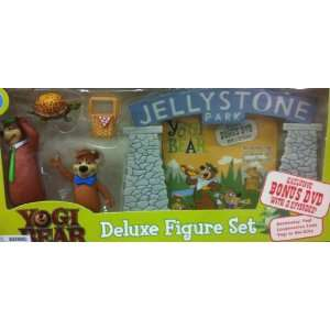 Hana Barbera Cartoon Icon Yogi Bear, Deluxe Figure Set