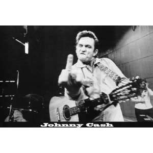 Johnny Cash Middle Finger Guitar Music 60x40 Giant Collector Original