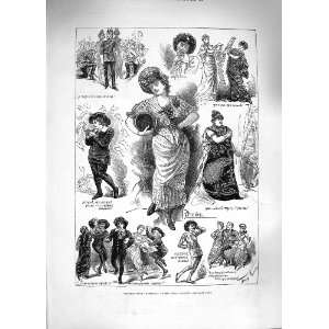 1881 SCENE PATIENCE OPERA COMIQUE ACTORS COSTUMES