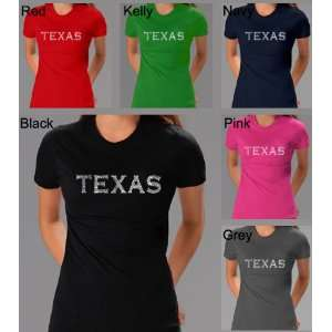 Womens Kelly Green Texas Cities Shirt Medium   Created Using the Most