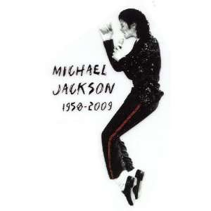Michael Jackson King of Pop 1958 2009 IN MEMORY OF Iron On
