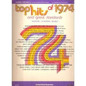 Top Hits of 1974 for Chord Organ [Sheet Music] Books