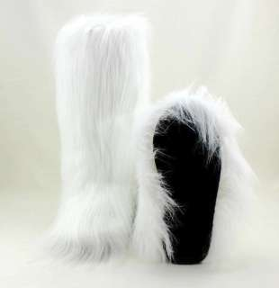 New Fashion Flat Faux Fur Furry Eskimo Winter Yeti Boot snow boots