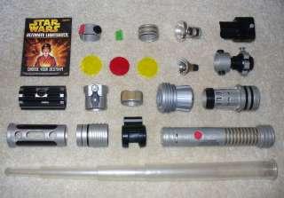 Star Wars ULTIMATE LIGHTSABER   Build A Light Saber LOT