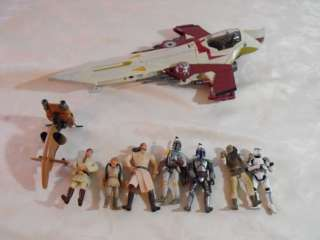 Star Wars Action Figure Loose Lot Episode 1 Bounty Hunter Starfighter