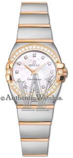 123.25.27.60.55.005 ► NEW OMEGA CONSTELLATION LADIES 18K ROSE GOLD