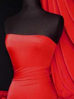 Red 4 way stretch shiny lycra fabric material