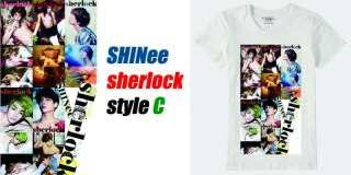 Sherlock T shirt, K pop Boyband SHINee Jonghyun Taemin Key Minho Onew