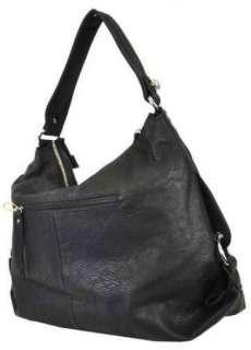 BOWED Flap Designer Inspired VEGAN Leather Hobo Purse Bag Brown