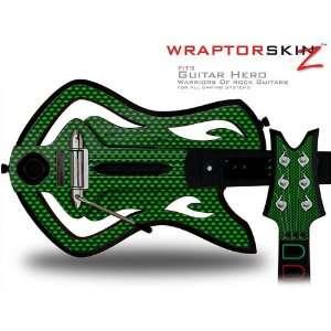 Warriors Of Rock Guitar Hero Skin   Carbon Fiber Green (GUITAR