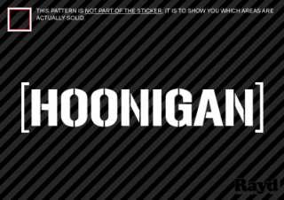 2x) Hoonigan Sticker Decal Die Cut #1