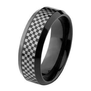 8mm Cobalt Free Tungsten Carbide COMFORT FIT Wedding Band Ring for Men