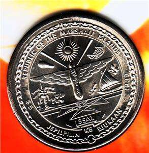 Bu Nice 1989 Marshall Islands Five Dollar Coin Fr Sh Us