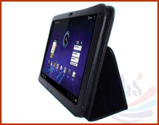 Folio Leather Case Cover Bag For 10.1 inch Motorola Xoom Tablet