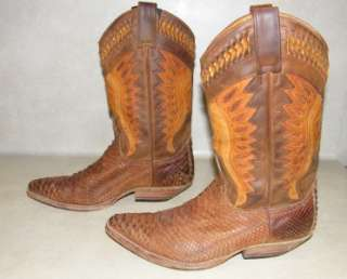 Mens Sendra Snakeskin Western Boots 10 10.5 made in spain Cowboy Tall