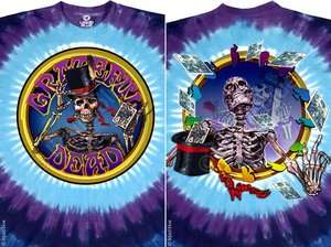 NEW Grateful Dead Queen of Spades Tie Dye Premium Rock Live Band Shirt