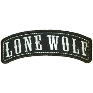 LONE WOLF ROCKER Embroidered Quality Biker Vest Patch