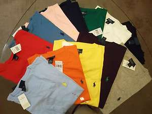Mens Ralph Lauren Polo T Shirts Tees M, L, XL, XXL ALL COLORS NWT