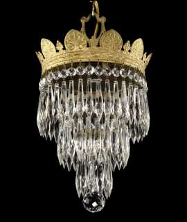 Antique Silver Gold Wedding Cake Chandelier Victorian Vintage Deco