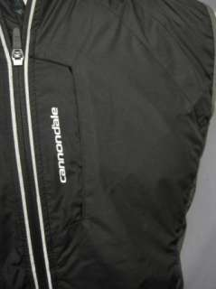 Cannondale Mens Black Cycling Biking Vest Full Zipper Small
