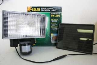Solar Powered 80 LED Motion Activated Outdoor Security Floodlight