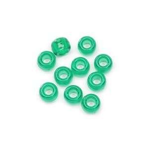 6x9 Acrylic Pony Beads   720pcs.   Xmas Green: Arts