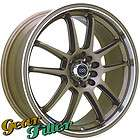 Enkei RSV 17x7 5x100 5x114.3 +42 Bronze +Lip Wheel/Rim INCOMPLETE SET