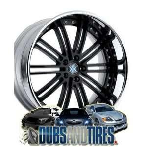 20 Inch 20x9 Beyern wheels BAROQUE Black wheels rims