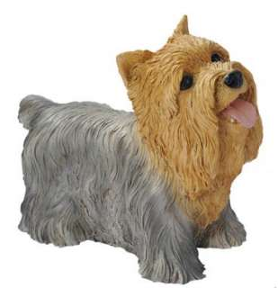 Puppy Dog Yorkshire Terrier Yorkie Sculpture for Home or Garden