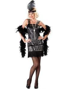 Adult Ladies Halloween Costume   1920s Flirty Flapper Dress