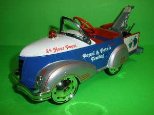 PEPSI COLA 1940 GENDRON PIONEER PEDAL CAR TOW TRUCK BANK #2 CROWN