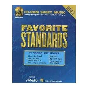 EMEDIA MUSIC CORP HL347 FAVORITE STANDARDS: Software