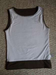 Lucy Poly/Spandex Brown Athletic Yoga Sleeveless Shirt Womens S