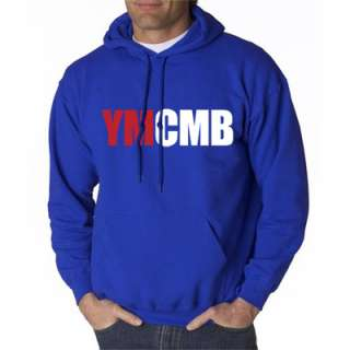 YMCMB HOODIE YOUNG MONEY LIL WEEZY WAYNE SHIRT ROYAL LG
