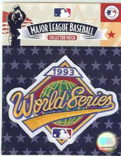 1993 WORLD SERIES PATCH PHILADELPHIA PHILLIES OFFICIAL