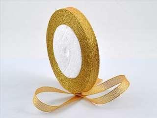 Yellow Gold Glitter Metallic Ribbon 20yds GR303