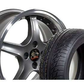 17 Fits Mustang (R) Cobra R 4 Lug Deep Dish Style Wheels