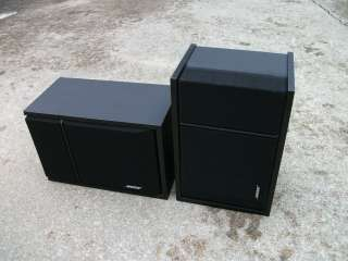 BOSE 201 SERIES III 6.5 2 WAY SPEAKER SYSTEM, BLACK VINYL CABINETS