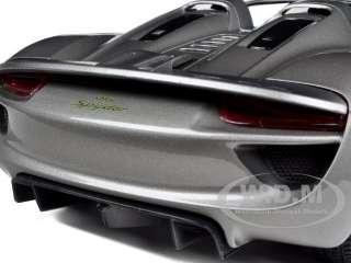 diecast model car of 2010 porsche 918 spyder concept grey metallic