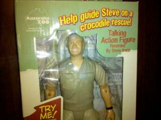 Talking Steve Irwin 9 Action Figure Doll Toy Brand New