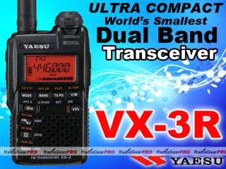 Yaesu VX 3R Dual Band VHF UHF Ham Portable Radio VX3R