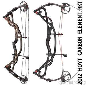 2012 HOYT CARBON ELEMENT RKT RIGHT HAND COMPOUND BOW 28 70LB   CAMO