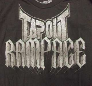 Mens LARGE Rampage Jackson Xtreme Wolf TapouT T shirt UFC MMA Couture
