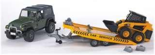 New Bruder JEEP Wrangler Unlimited and CAT Skid steer loader #02923