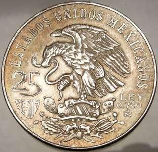 SUMMER OLYMPICS XIX Mexico City 1968 Huge SILVER Mexican Coin Eagle