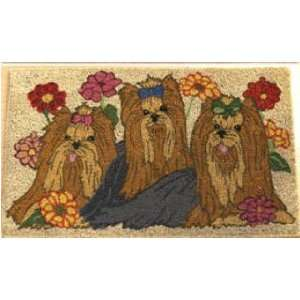 YORKSHIRE terrier Yorkie COIR DOORMAT welcome MAT NEW