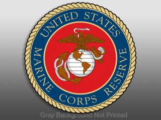Marine Corps RESERVE Seal Sticker  decal logo corp usmc