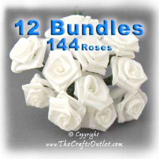 These are elegant satin ribbon roses are ideal for Scrapbooking and